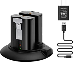 OLAIKE Battery Charger Station Compatible with Ring Video Doorbell 2 & 3,Spotlight Cam Battery,Peephole Cam & Stick Up Cam Battery,Portable Dual Port Charging with DC Adapter(Batteries NOT Included)