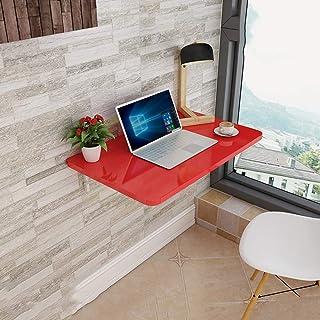 GSKD Bureau D'ordinateur Table Murale Rabattable Table De Cuisine Pliable Table De Salle À Manger avec Supports Table Enfa...