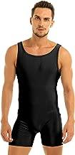 winying Mens One Piece Lycra Sleeveless Vest Tank Top Leotard Gymnastics Bodysuit Wrestling Singlet Jumpsuit