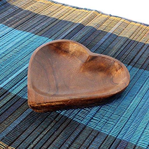 ハートのトレイ プレート 小物入れ アクセサリートレイ 天然木 木製 ウッド エスニック アジアン雑貨 バリ雑貨 インテリア バリ風 可愛い