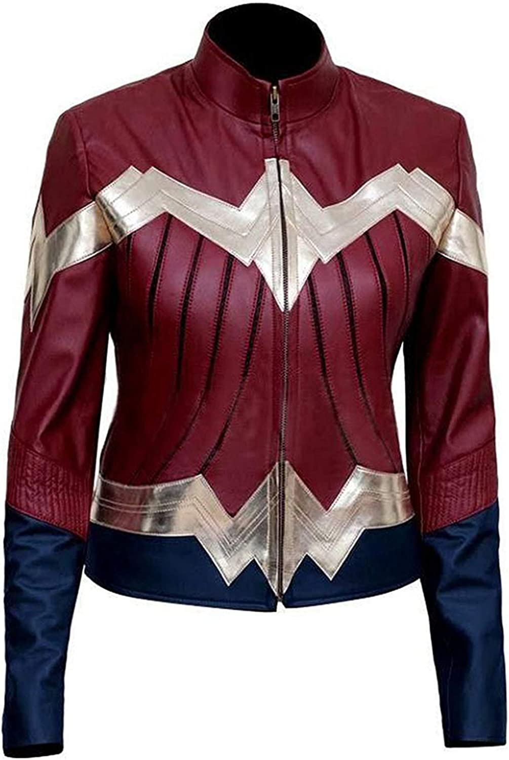 Alamodetrend Wonder Woman 2017 Diana Prince Jacket  Halloween Idea Maroon