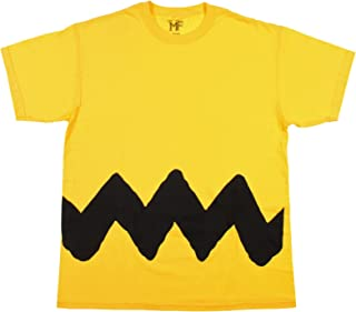 Peanuts Charlie Brown Double Sided Zig Zag Costume Shirt (X-Large)
