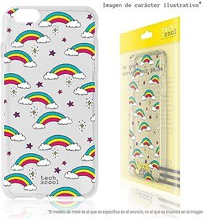 Funnytech® Funda Silicona para Samsung Galaxy Grand Neo Plus i9060 [Gel Silicona Flexible, Diseño Exclusivo] Arcos Iris Transparente