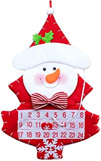 Kiar Christmas Advent Calendar & Pockets Felts Kids Wall Hanging Countdowns Decors Tree Before Nightmare White who DVD for Doctor Stole Outfit Carol Vacation Bag Bad July