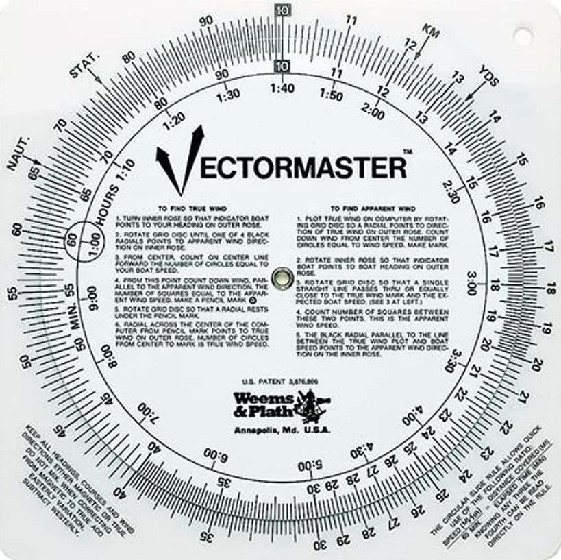 Weems & Plath Marine Navigation Vectormaster Circular Slide Rule and Navigation Tool