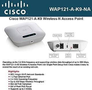 Cisco WAP121 IEEE 802.11n 300 Mbps Wireless Access Point