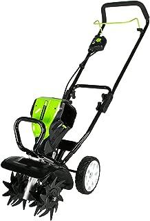 Greenworks TL80L210 Pro 80V 10-Inch Tiller, 2Ah Battery Included, Black and Green