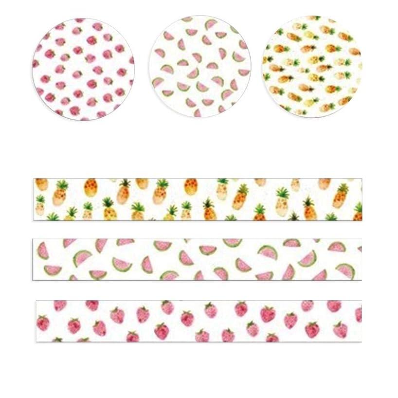 Occitop 3 Rolls Washi Masking Tape Set Petal Animal DIY Scrapbooking Stickers (2)