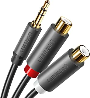 UGREEN RCA Cable 3.5mm Male to 2RCA Female Audio Cable for Smartphones, MP3, Tablets, Home Theater