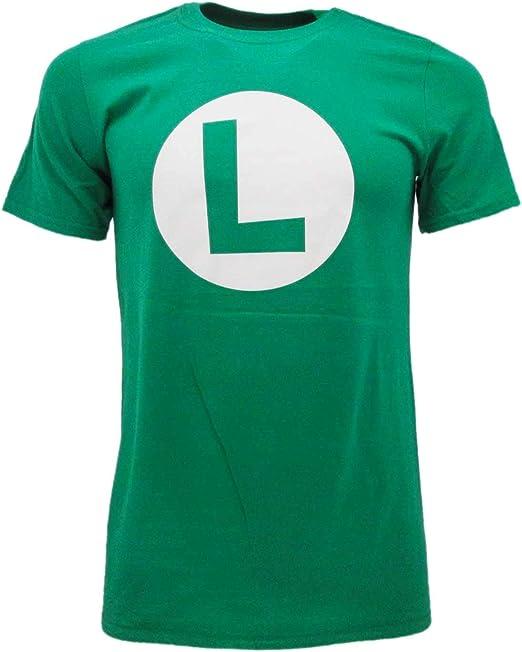 Fashion UK Luigi Super Mario Bros Original Hydraulic T-Shirt Green T-shirt  Official Product Adult Unisex : Amazon.co.uk: Clothing