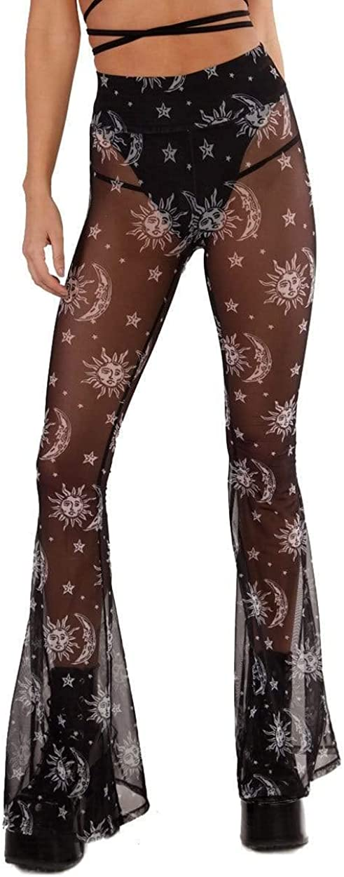 iHeartRaves Women's High Waisted Bell Bottom for Co sale Popular product Flared Pants
