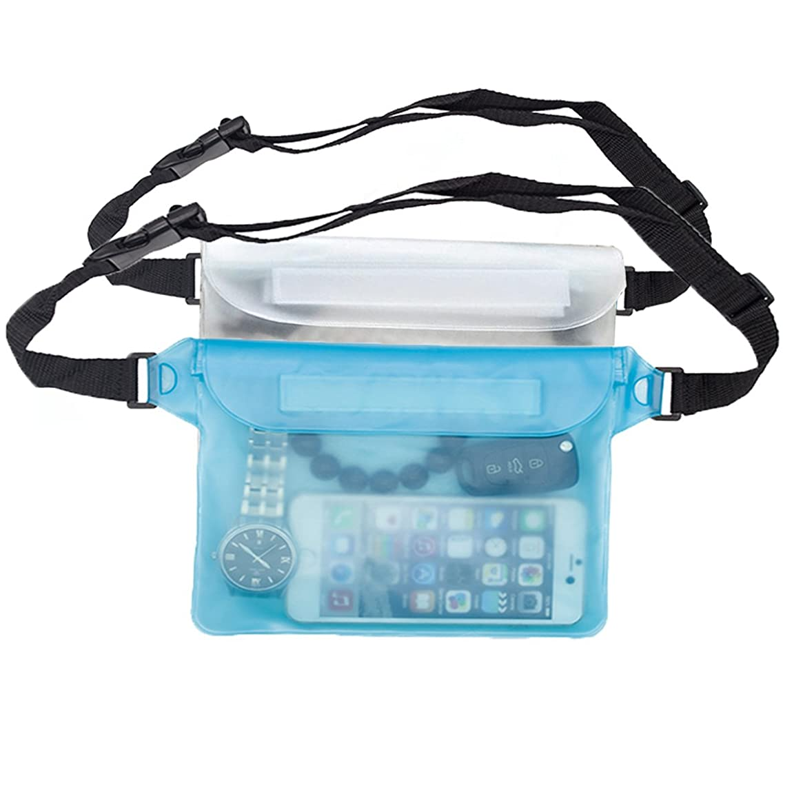 Coideal Waterproof Pouch Dry Bag with Waist/Shoulder Strap Sealing Fanny Pack for Boating,Swimming,Rafting