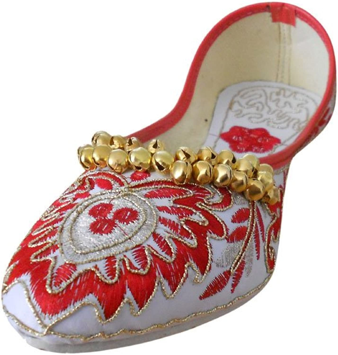 Kalra Creations Women's Traditional Rexine with Embroidery Ethnic shoes
