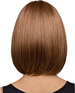 Hair Wigs, Women Bob Wig Cosplay Synthetic Party Wig Short Straight Wigs (Brown)