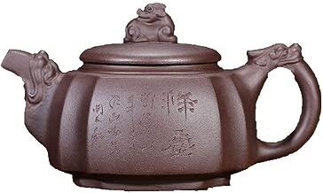 Teapot Genuine Teapot Famous Hand-ore Purple Clay Teapot Quartet Dragon Statue JFYCUICAN (Color : Purple mud)