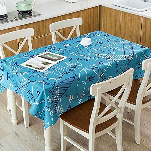 XXDD Raya geométrica Flecha Patrón de Cuadros a Cuadros Mesa Impermeable Hogar Cocina Hotel Escritorio Mantel Decorativo A5 150x210cm