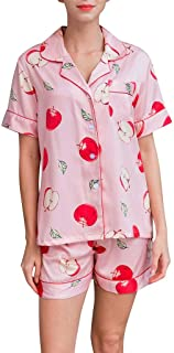GDJGTA Women's Cute and Sweet Short Sleeve Shorts Pajamas Lingerie Nightwear Underwear Sleepwear Set