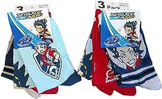 Calcetines Beyblade Burst para niños, niños de diferentes tamaños en un paquete de 6.