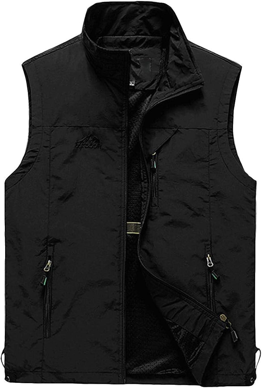 Haellun Men's Casual Lightweight Outdoor Quick Dry Travel Photo Fishing Vest