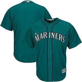 VF Seattle Mariners MLB Mens Majestic Alternate Cool Base Replica Aqua Jersey Big & Tall Sizes