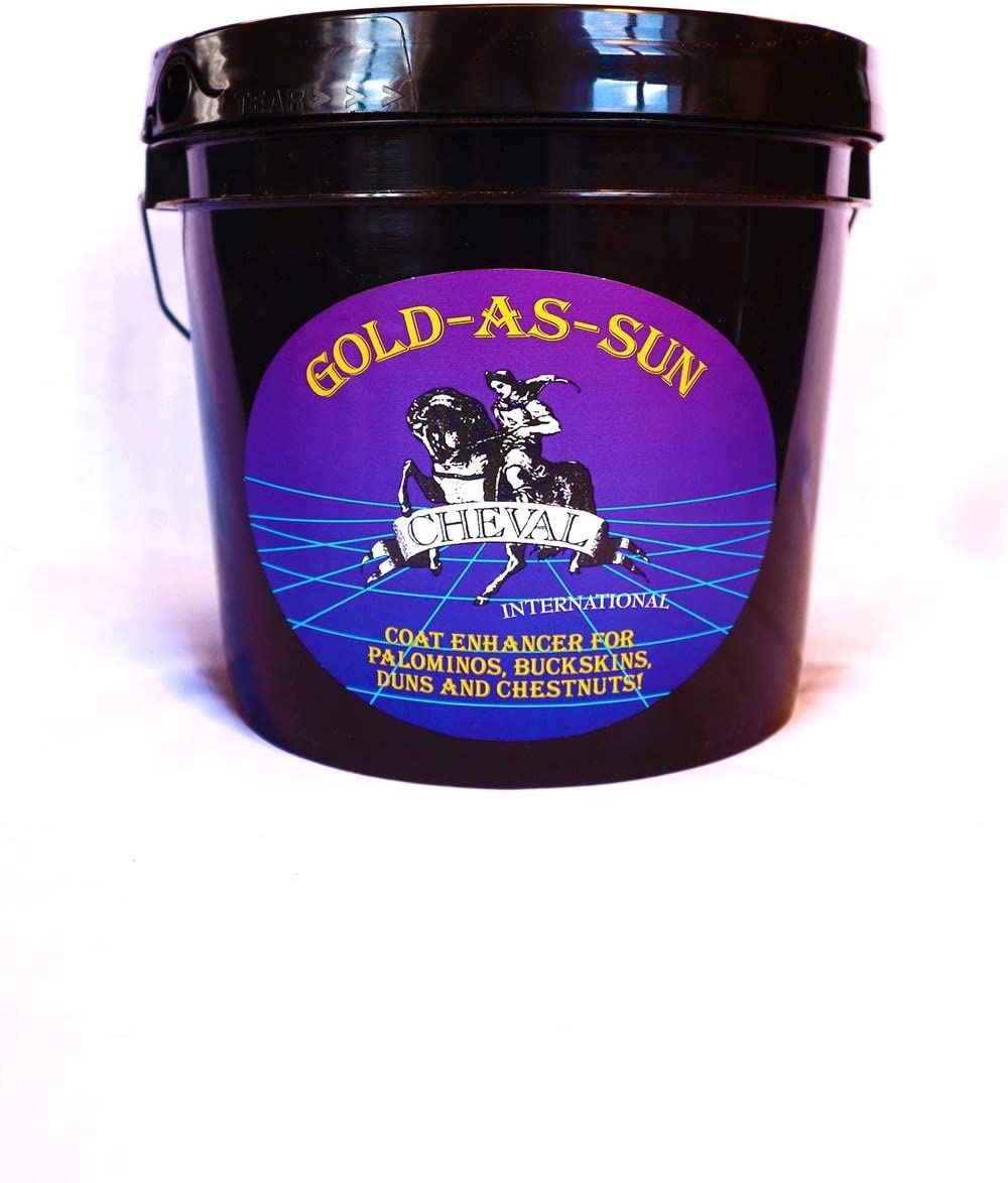 GOLD-AS-SUN Horse Coat Enhancing Supplement Colorado Springs Mall Palominos Indefinitely for Bu and