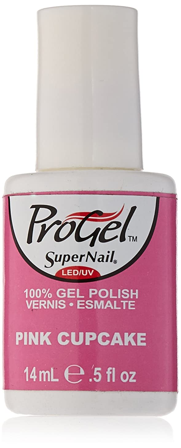 大学生負担つまずくSuperNail ProGel Gel Polish - Pink Cupcake - 0.5oz / 14ml