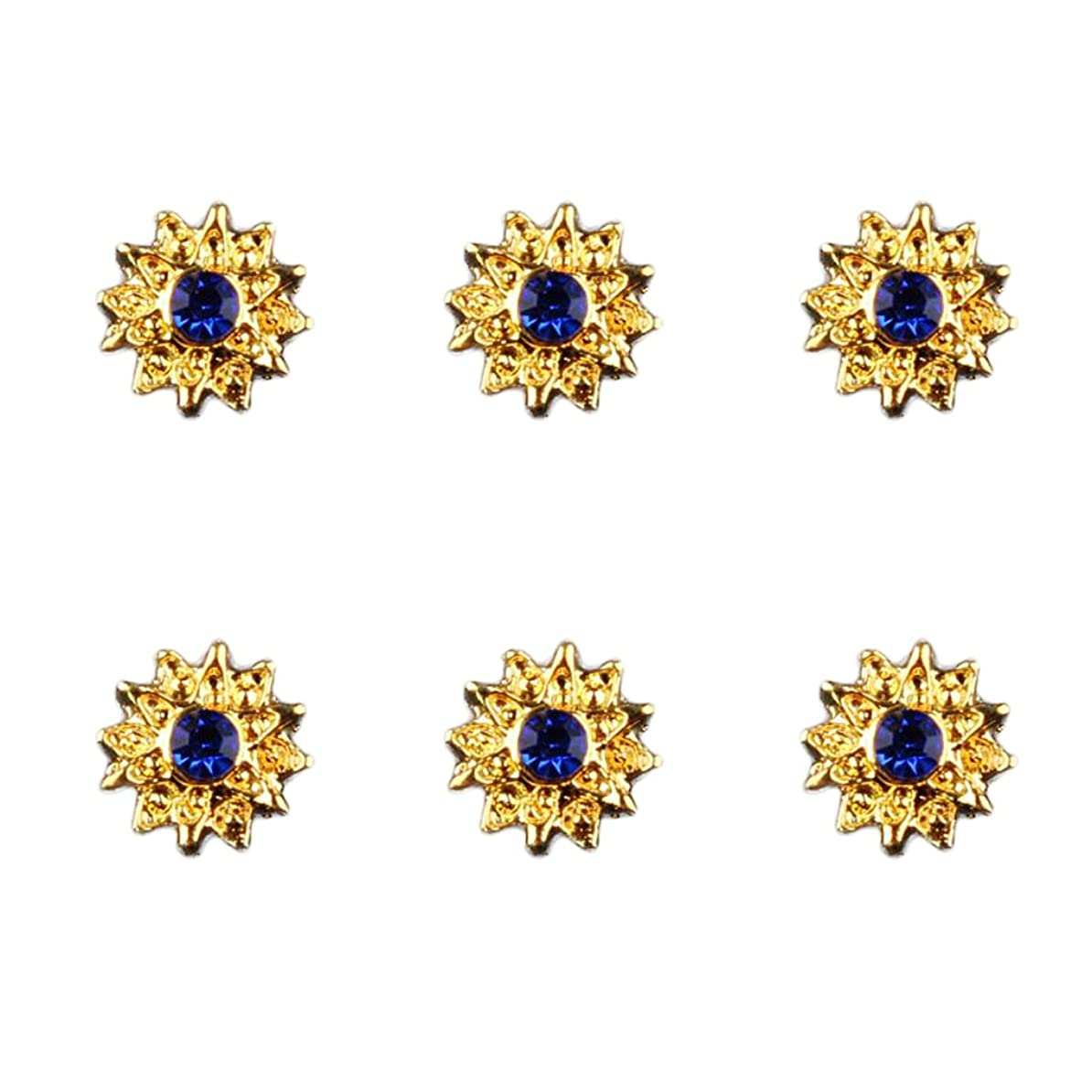 ダンス高揚した正統派約50個入り マニキュア ダイヤモンド 3Dネイルアート ヒントステッカー 装飾 全8種類 - 6