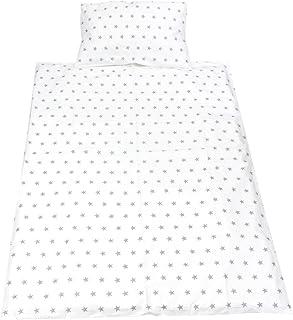 TupTam Juego de Ropa de Cama Infantil de 2 Elementos, Estrellas Blanco, 135x100 cm