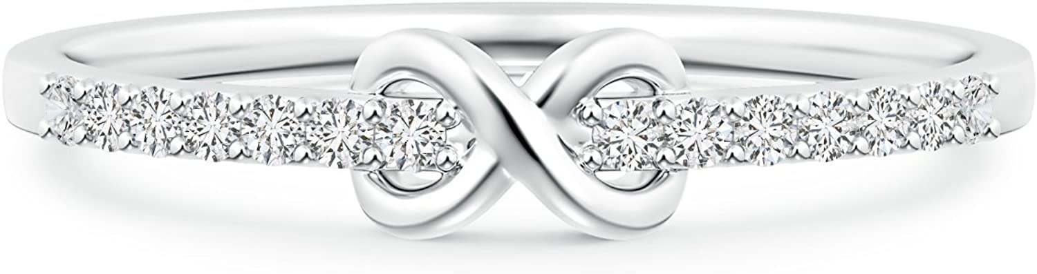 gift April Birthstone Indianapolis Mall - Round Natural Promise Infinity White Diamond