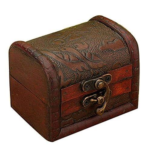 0ed6f228d Hofumix Jewelry Box Vintage Wood Handmade Box with Mini Metal Lock for  Storing Jewelry Treasure Pearl