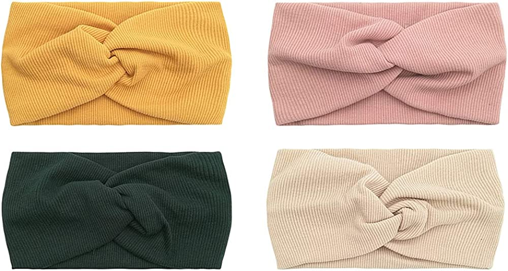 Sarfel Womens Headbands Boho Headwraps Cross Elastic Hair Band Bows Cross Head Bands for Women