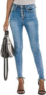 YOUCAI Jeans para Mujer Elástico Cintura Alta Skinny Jeans Slim Taille Pantalones Casuales Jeggings Pantalones de Mezclill...