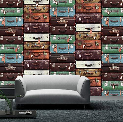 Pbbzl Custom Size Europese koffer muur schilderij 3D behang woonkamer bank tv achtergrond muur huisdecoratie muurschildering 3Dde 200 x 140 cm.