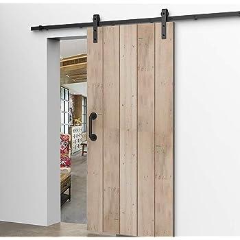 6.6FT/200CM Herraje para Puerta Corredera Kit de Accesorios, Guia Riel Puertas Correderas,Guía de piso ajustable: Amazon.es: Bricolaje y herramientas