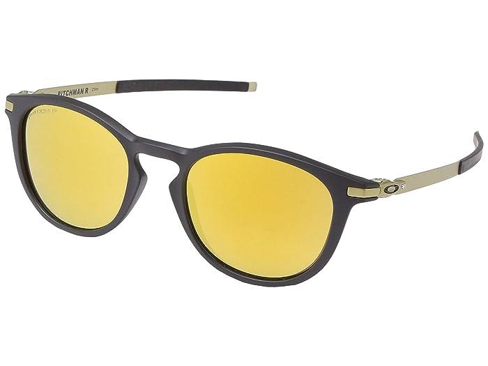 Oakley Pitchman R (Satin Black/Gold) Sport Sunglasses