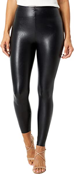 7/8 Faux Leather Leggings with Perfect Control