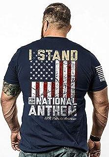 Nine Line Men's I Stand T-Shirt, Midnight Navy