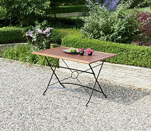 Ribelli outdoor klaptafel, acaciahout FSC 100% 120 x 80 x 74 cm - tuintafel tafel stalen tafel houten tafel terrastafel