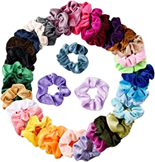 DYNWAVE 36x Mulheres Meninas Veludo Cabelo Scrunchies Acessórios para Cabelo Faixas Elásticas de Cabelo