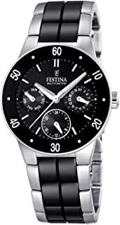 Festina Ladies Multi-Function Watch F16530/2 with Black Ceramic Inlay
