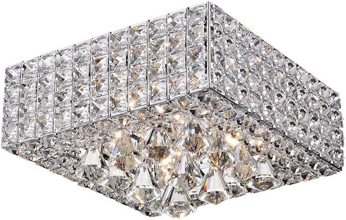 Warehouse of Tiffany RL8178CH Ranking TOP14 Sullin New color Crystal Chrome Ceili Square