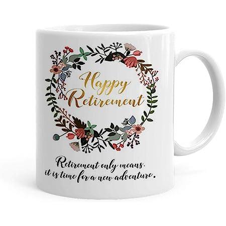 Khakee Happy Retirement Theme Ceramic Printed Tea and Coffee Mug(325 Ml)