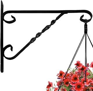 Hanging Plants Bracket 12'' Wall Planter Hook Flower Pot Bird Feeder Wind Chime Lanterns Hanger Patio Lawn Garden for Shelf Shelves Fence Screw Mount against Door Arm Hardware