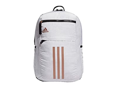 adidas League 3 Stripe Backpack (Jersey White/Black/Rose Gold) Bags