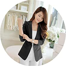 Slim Plus Size Long-Sleeve Casual All-Match Women's Coat Formal Notched Collar Women Suits Clothes