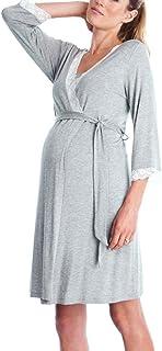 Gusspower Vestido de Lactancia Maternidad de Noche Camisón