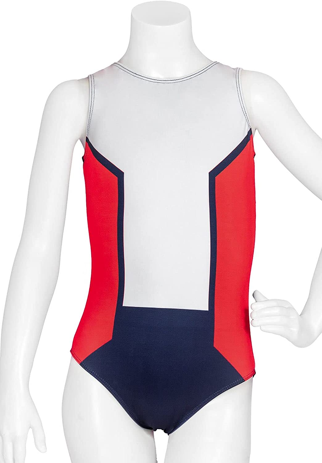 Destira All Long Beach Mall Max 56% OFF American Red White Leotard Girl's So Vintage Blue