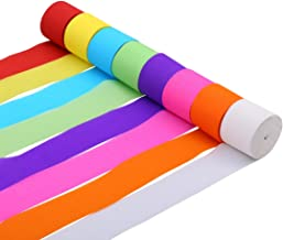 82ft Streamer Paper Decorations Assorted Colors Crepe Paper for Birthday Party Wedding Holiday Christmas Decoration, 8 Rolls