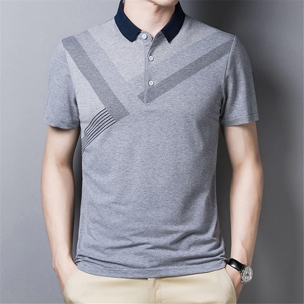 XJJZS Fashion Cheap Men Polo Shirt Short Sleeve New arrival Casual Shi Cotton