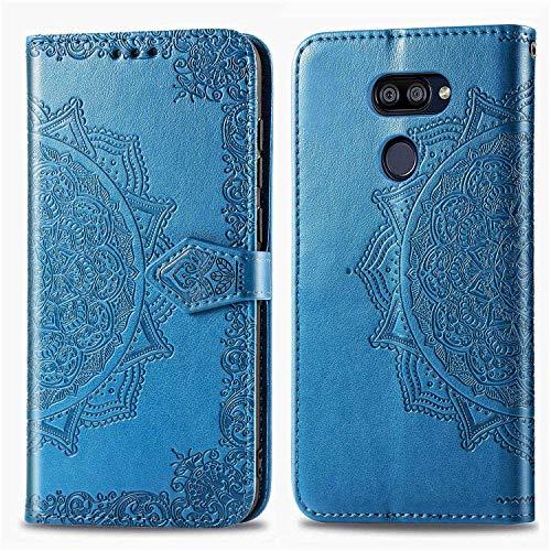 Bear Village Hülle für LG K40S, PU Lederhülle Handyhülle für LG K40S, Brieftasche Kratzfestes Magnet Handytasche mit Kartenfach, Blau